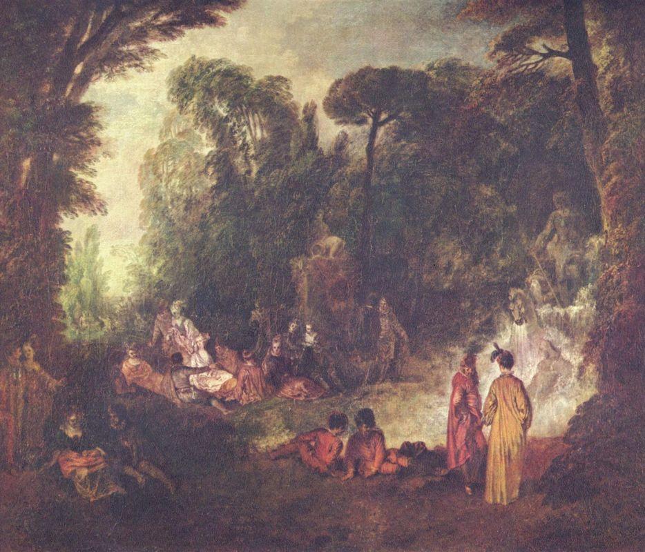 Feast in Park - Antoine Watteau