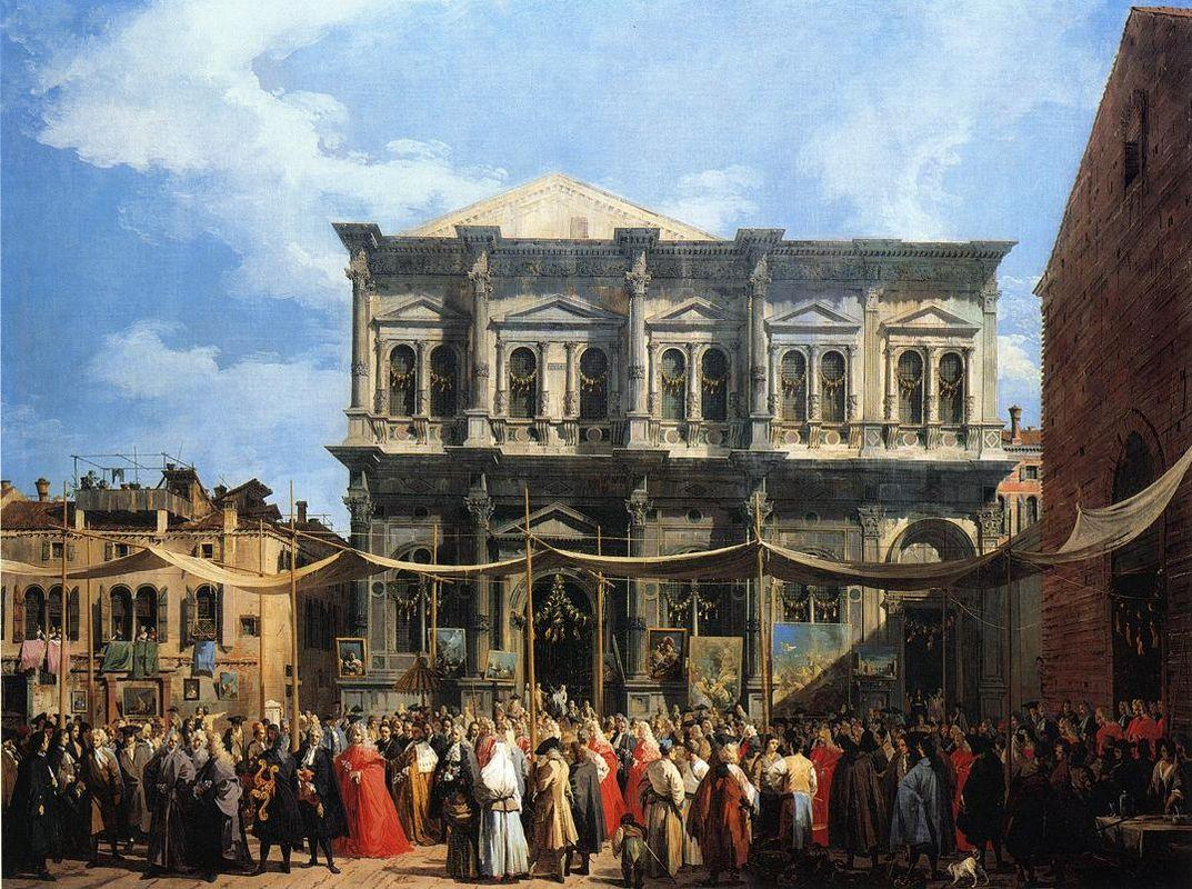 Feast of San Rocco (The Doge Visiting the Church and Scuola di S. Rocco) - Canaletto