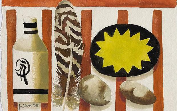Feather and two stones - Mary Fedden