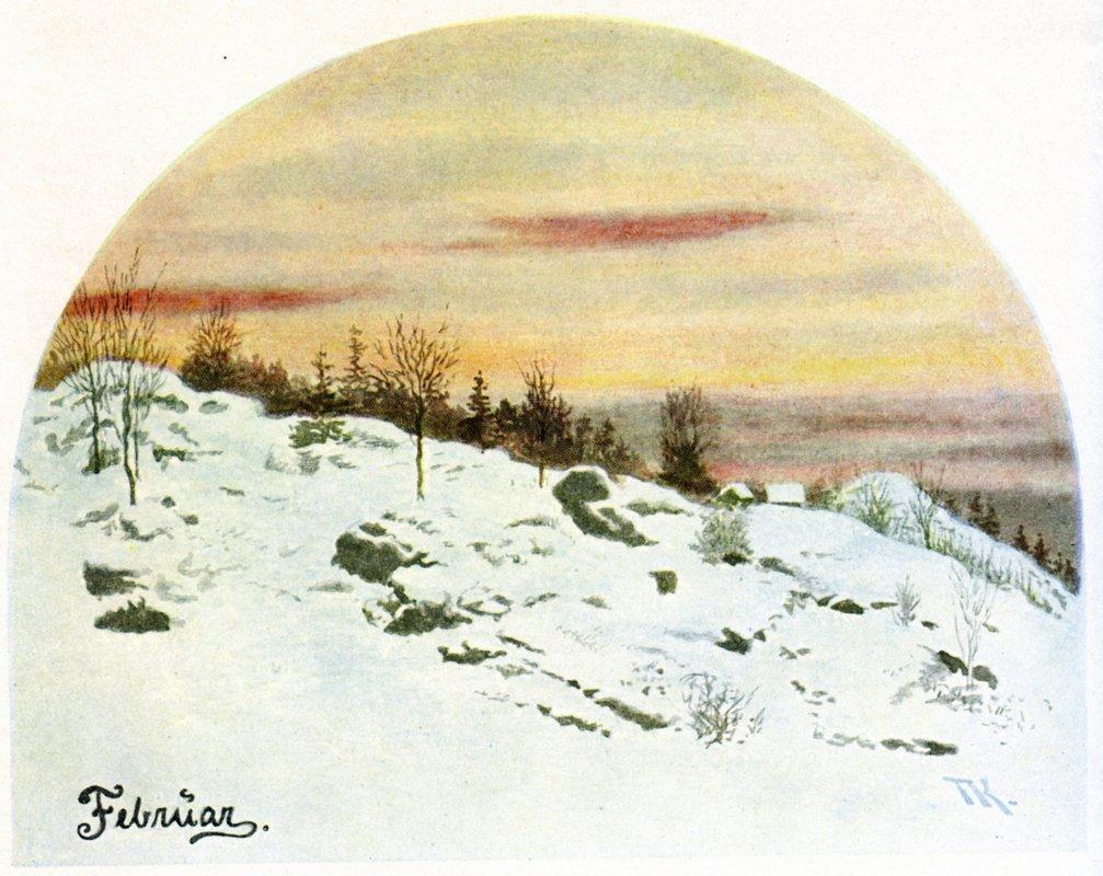 February - Theodor Severin Kittelsen