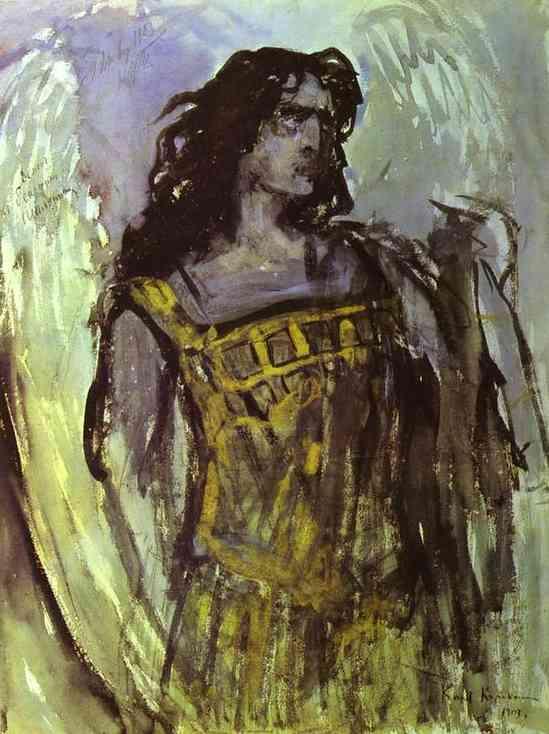 Fedor Shalaypin as Demon in Rubinstein`s opera - Konstantin Korovin