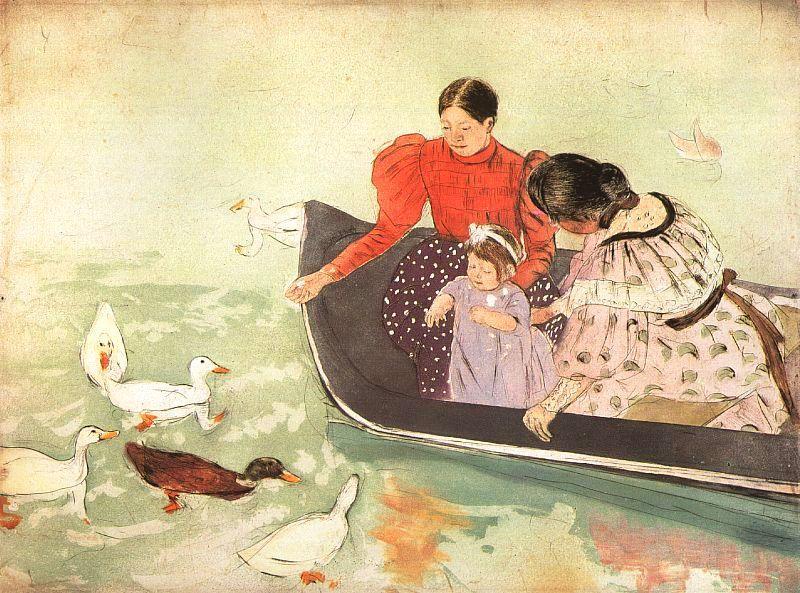 Feeding the Ducks - Mary Cassatt