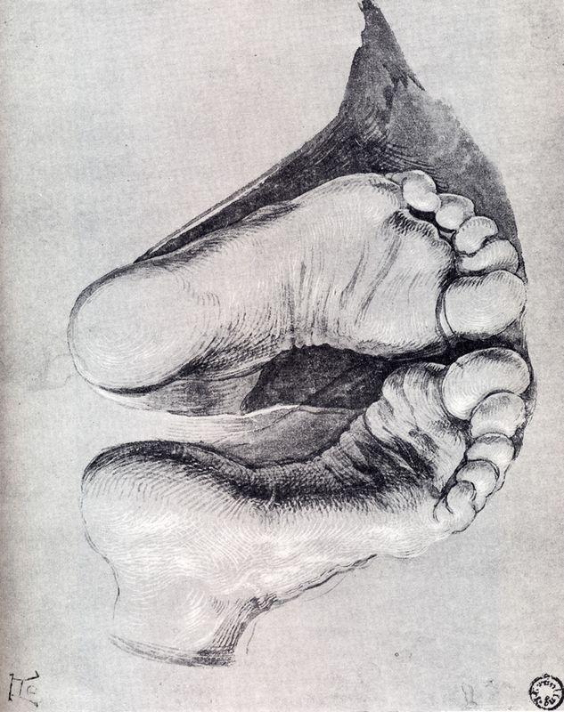 Feet Of A Kneeling Man - Albrecht Durer