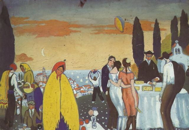 Festival at San Sebastian - Salvador Dali