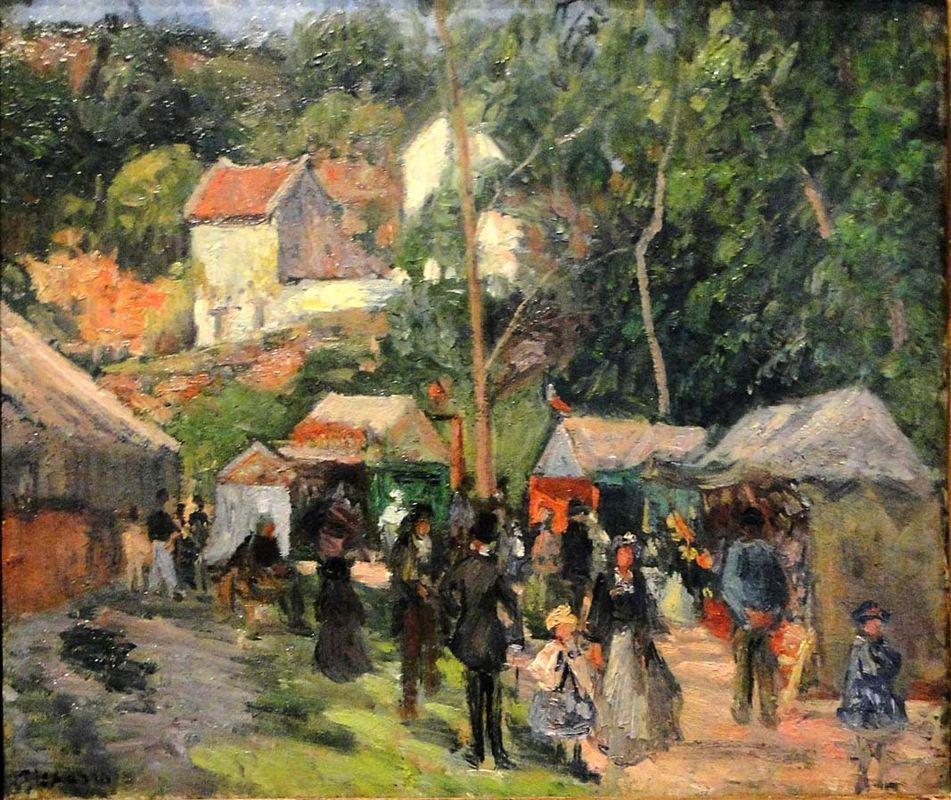 Festival at the Hermitage - Camille Pissarro