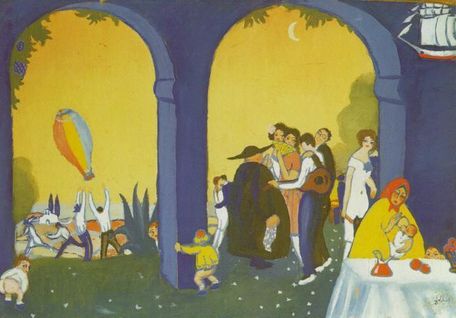 Festival in Figueras - Salvador Dali