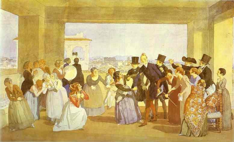 Festival in Rome in October. Scene in the Loggia (Asking to Dance) - Alexander Ivanov