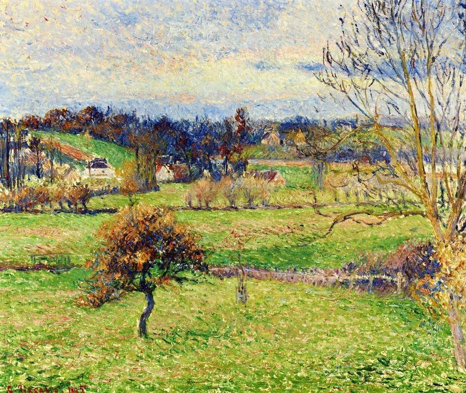 Field at Eragny - Camille Pissarro