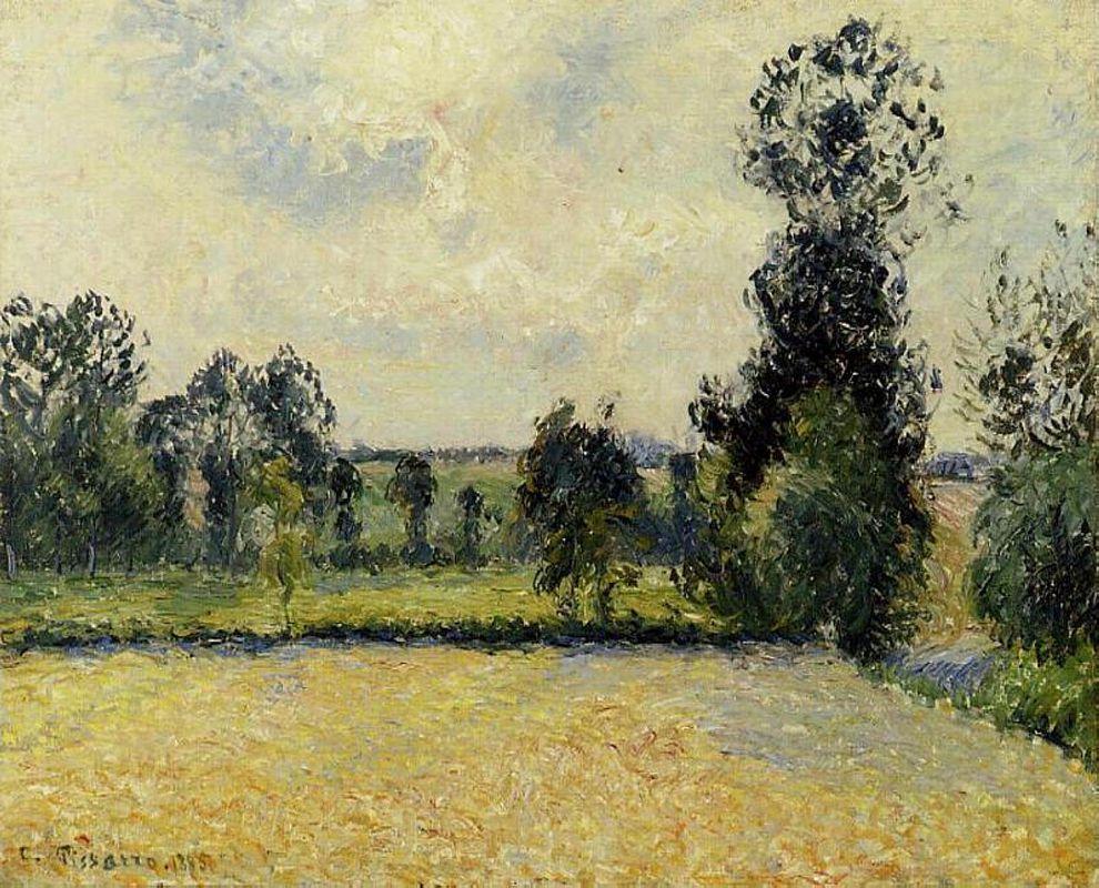Field of Oats in Eragny - Camille Pissarro