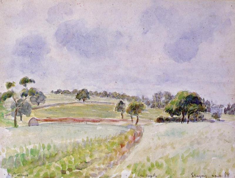 Field of Rye - Camille Pissarro