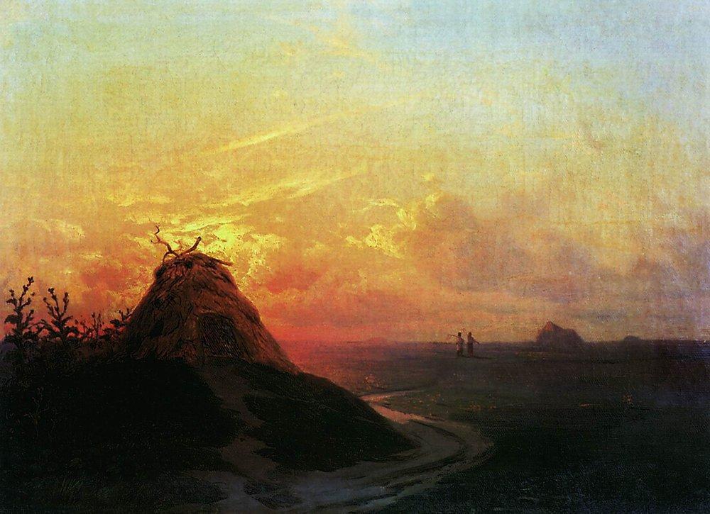 Field. Sunset - Ivan Aivazovsky