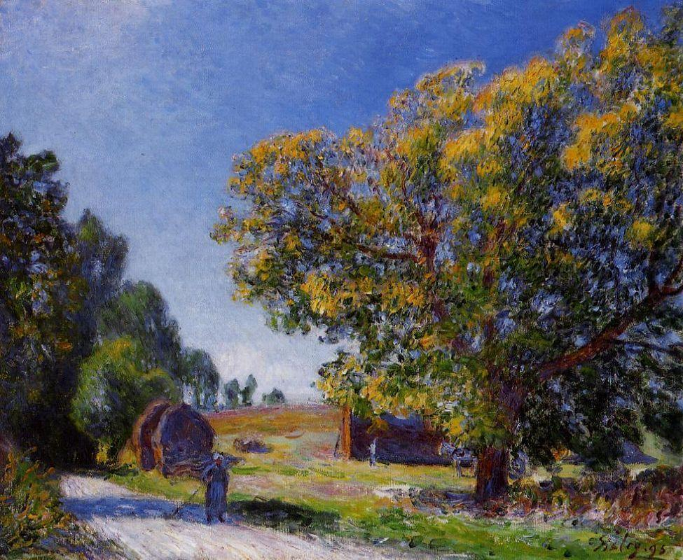 Fields around the Forest - Alfred Sisley
