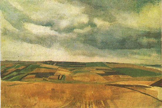 Fields in Neskuchnoye - Zinaida Serebriakova
