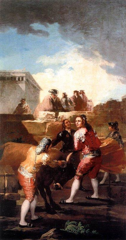 Fight with a young bull - Francisco Goya