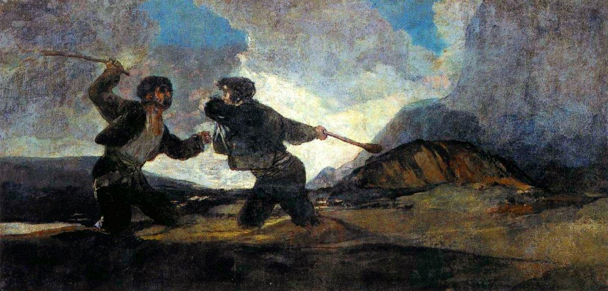 Fight With Cudgels - Francisco Goya