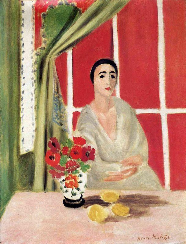 Figure at the Rideau Releve - Henri Matisse