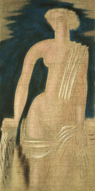 Figure from Greek Antiquity (diptych) - Konstantinos Parthenis
