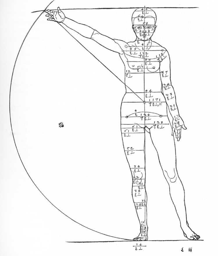 Figure of Woman Shown in Motion - Albrecht Durer