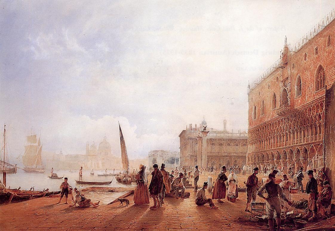 Figures on the Riva degli Schiavone - Rudolf von Alt