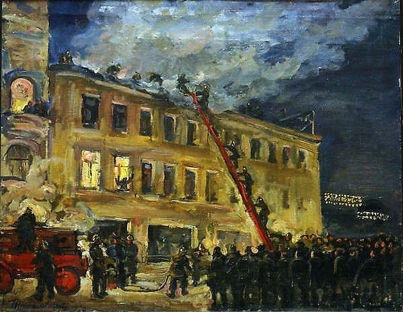 Fire - Pyotr Konchalovsky
