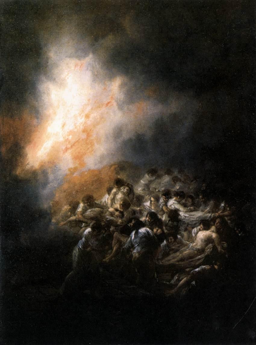 Fire at Night - Francisco Goya