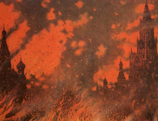 Fire of Zamoskvorechye - Vasily Vereshchagin