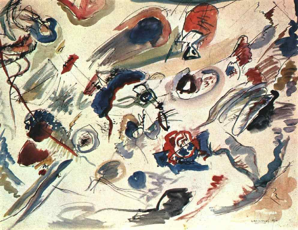First abstract watercolor -  Wassily Kandinsky