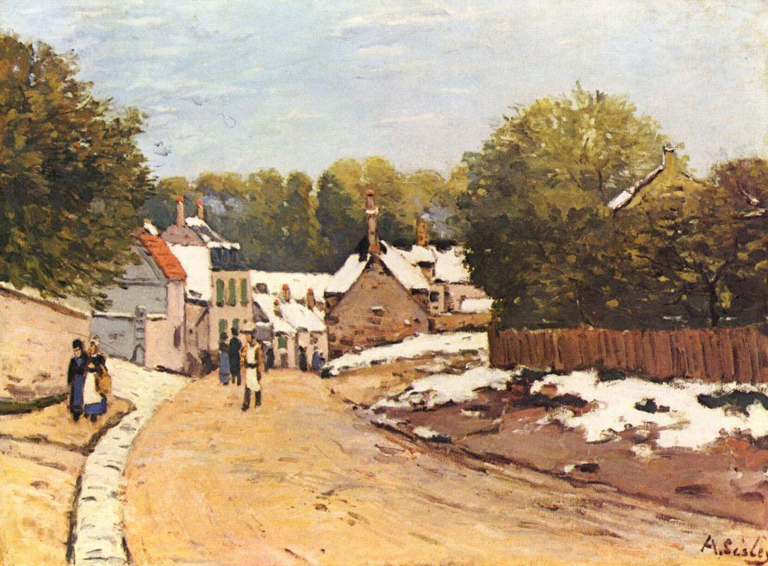 First Snow in Louveciennes - Alfred Sisley