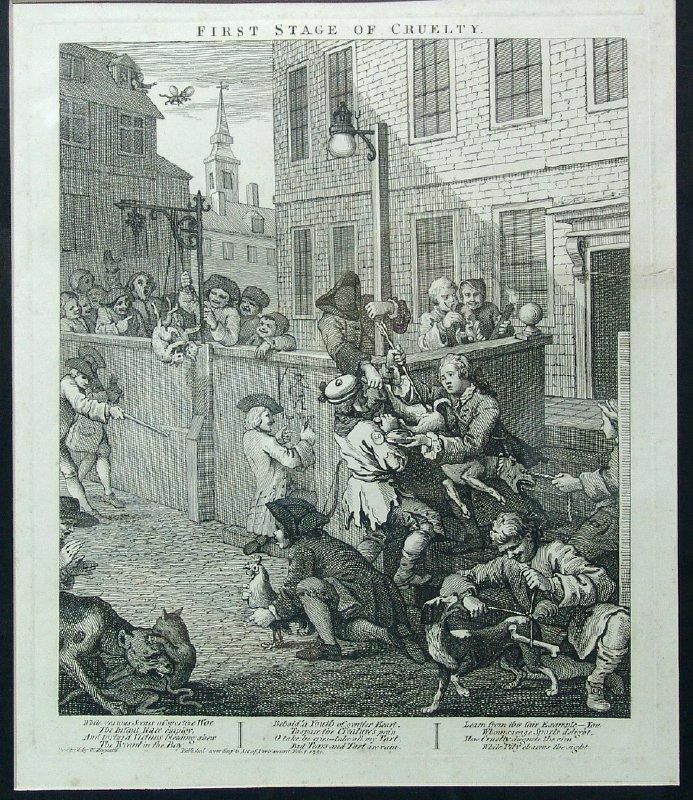 First stage of cruelty - William Hogarth