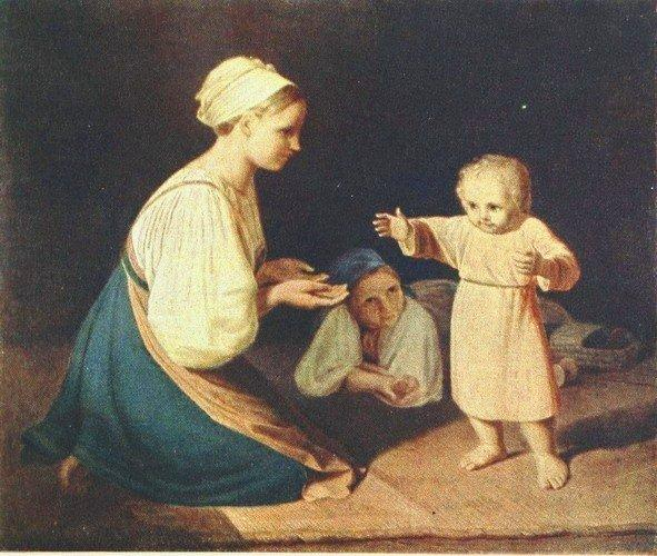 First Steps (Peasant Woman with child) - Alexey Venetsianov