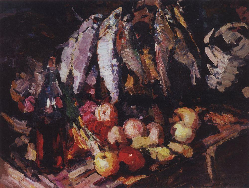 Fish, Wine and Fruit - Konstantin Korovin