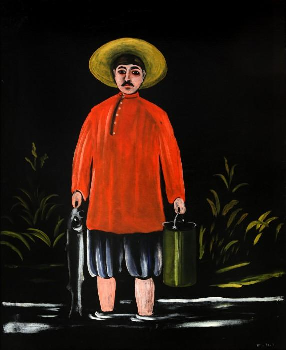 Fisherman in a Red Shirt - Niko Pirosmani