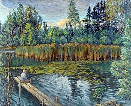 Fisherman - Nikolay Bogdanov-Belsky
