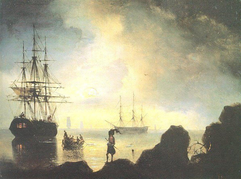 Fishermen on the Shore - Ivan Aivazovsky