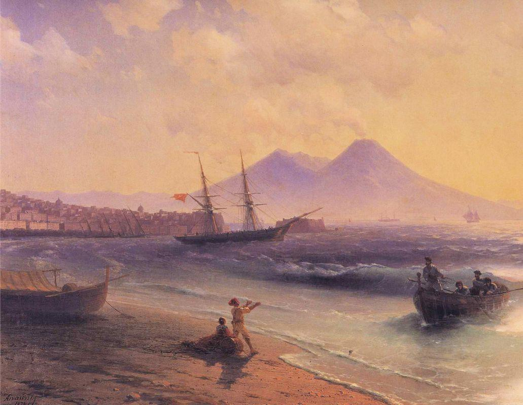 Fishermen Returning Near Naples - Ivan Aivazovsky