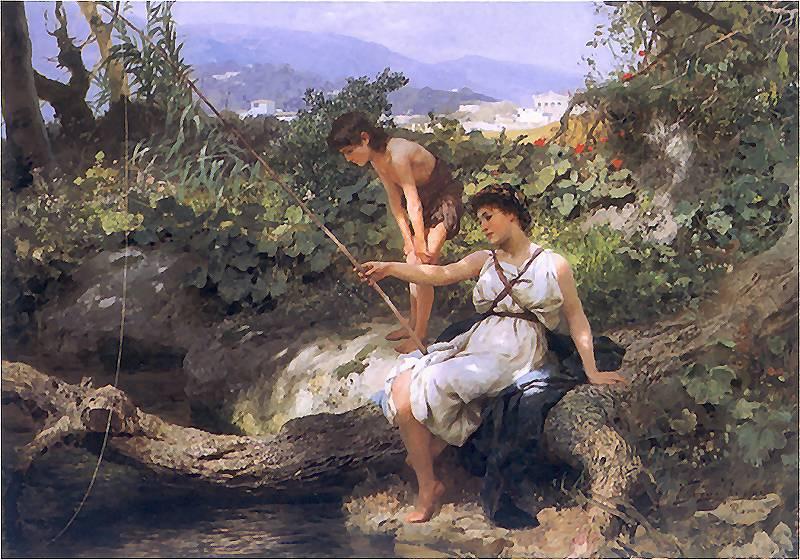 Fishing. A Scene from the Roman Life - Henryk Siemiradzki
