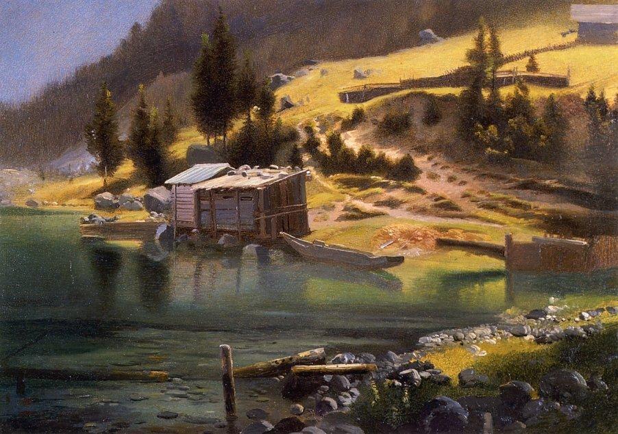 Fishing and Hunting Camp, Loring, Alaska - Albert Bierstadt