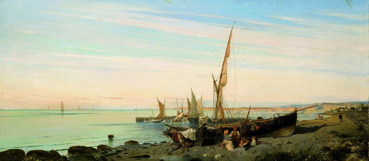 Fishing boats - Konstantinos Volanakis