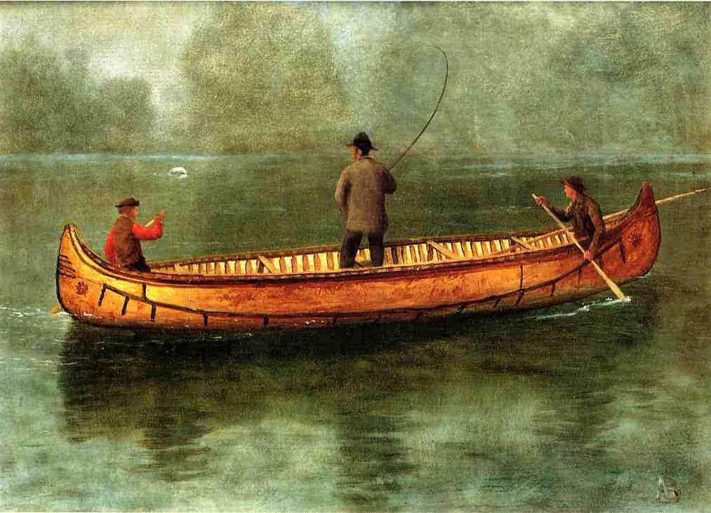 Fishing from a Canoe - Albert Bierstadt