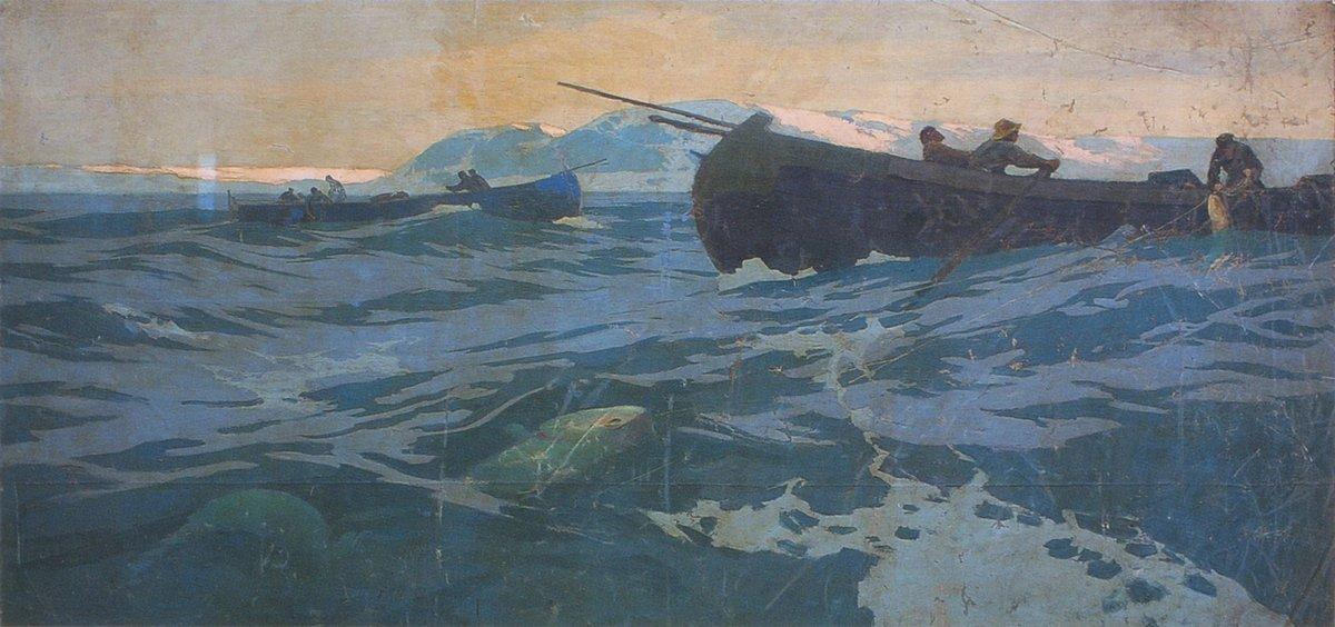 Fishing on Murman Sea - Konstantin Korovin
