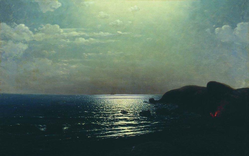 Fishing on the Black Sea - Arkhip Kuindzhi