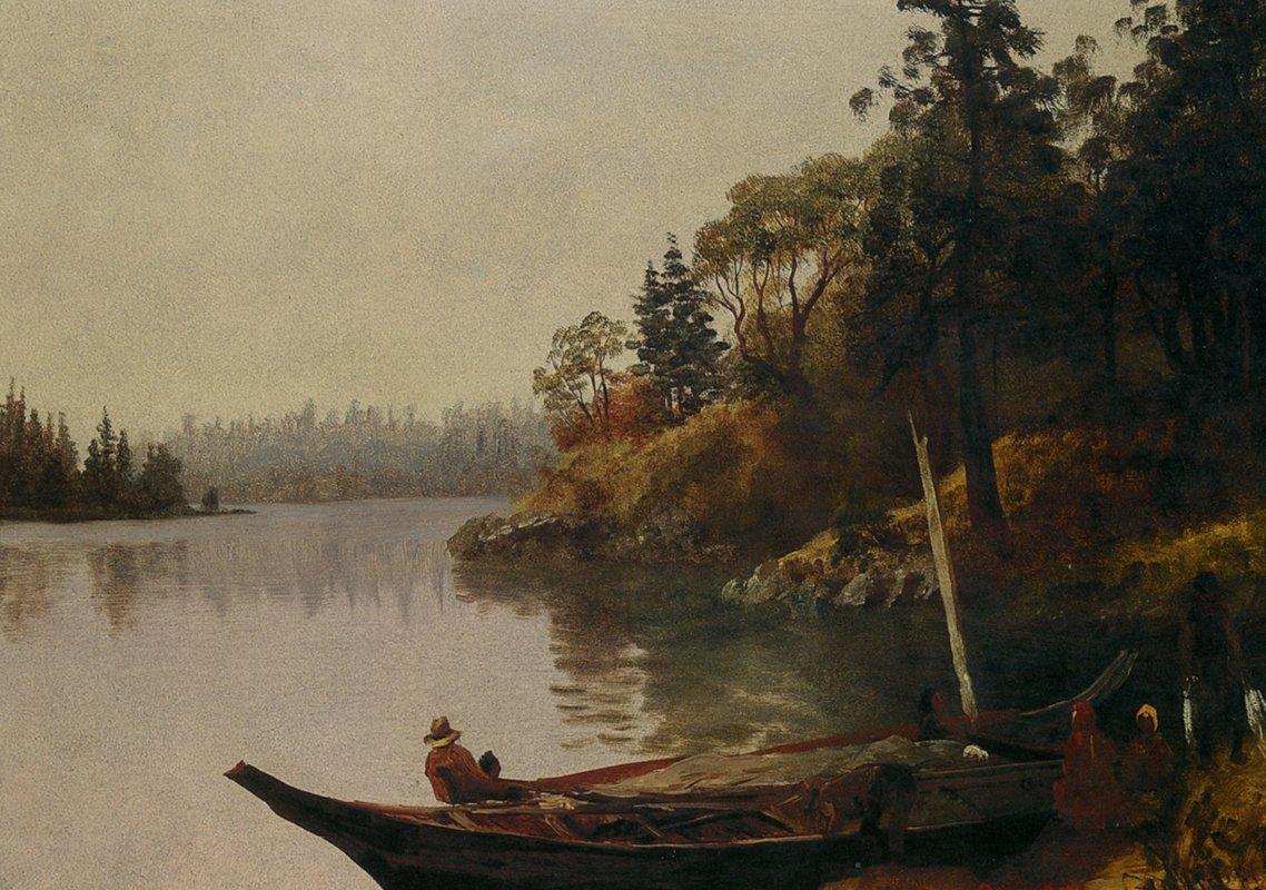 Fishing on the Northwest Coast - Albert Bierstadt