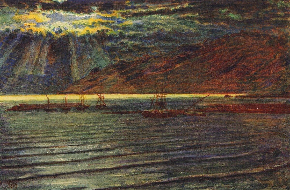 Fishingboats by Moonlight - William Holman Hunt