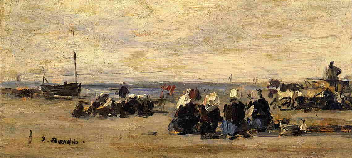 Fishwomen at Berck - Eugene Boudin