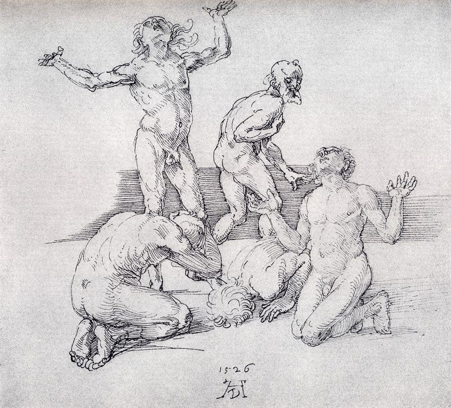 Five Male Nudes - Albrecht Durer
