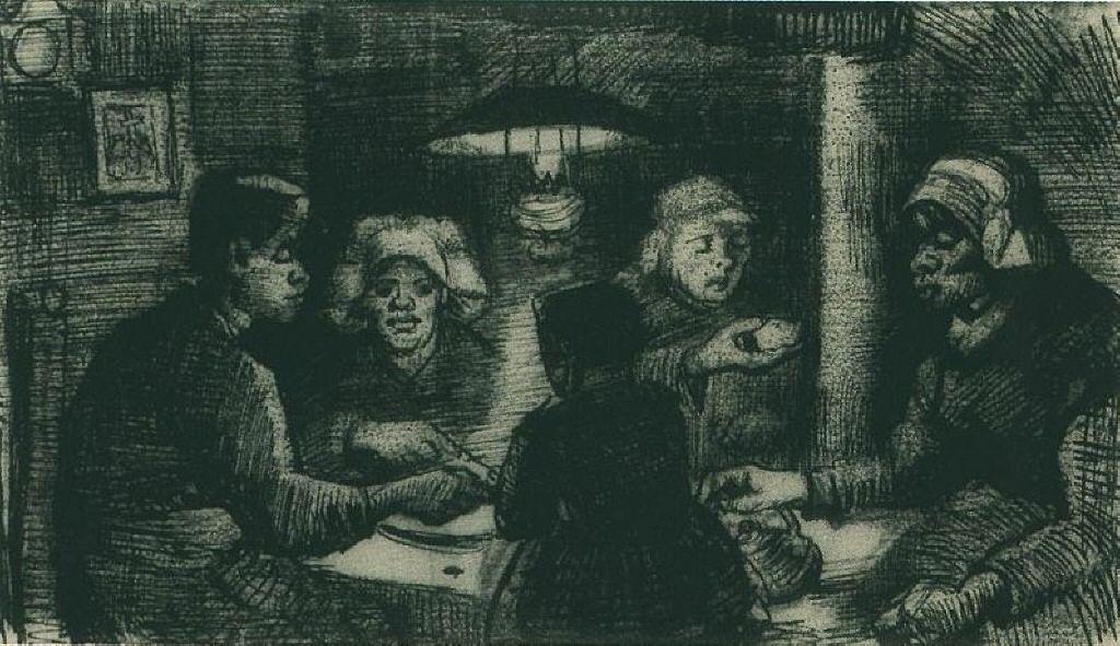 Five Persons at a Meal - Vincent van Gogh