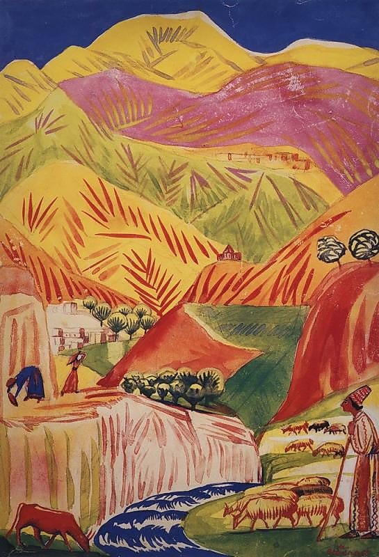 Flamboyant landscape - Martiros Saryan
