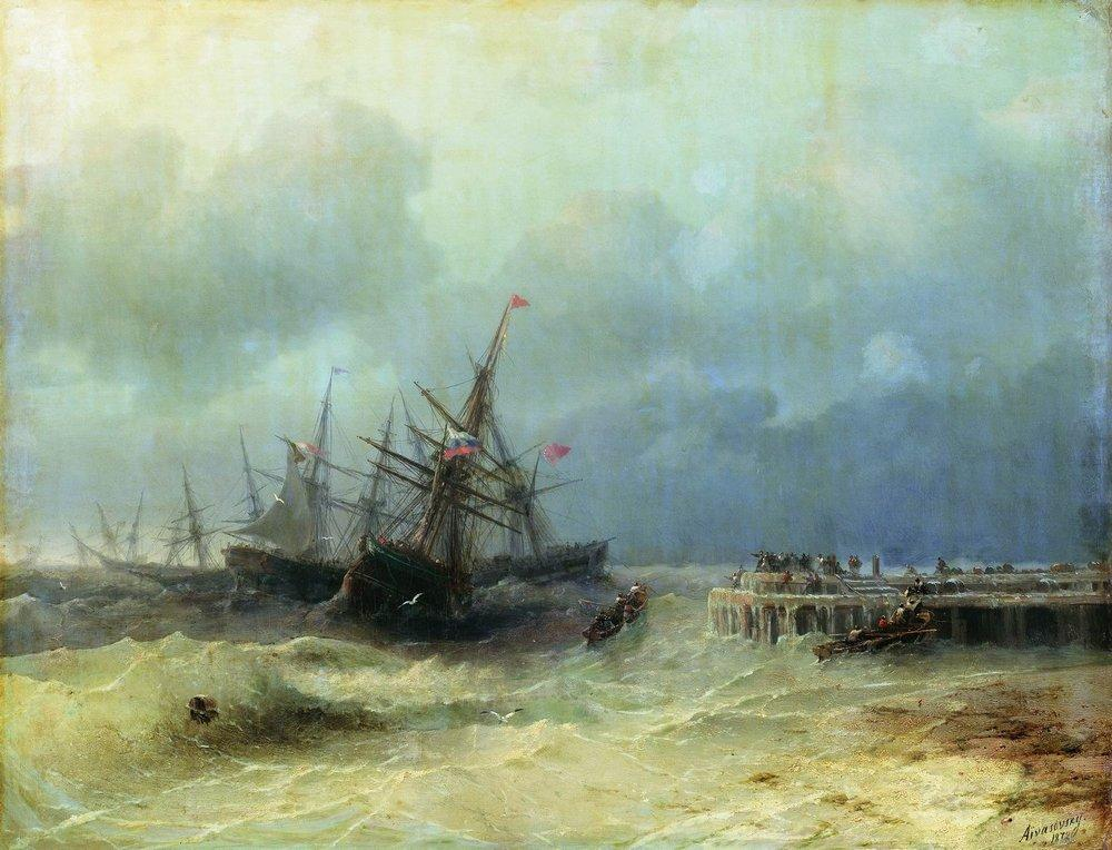 Fleeing from the storm - Ivan Aivazovsky