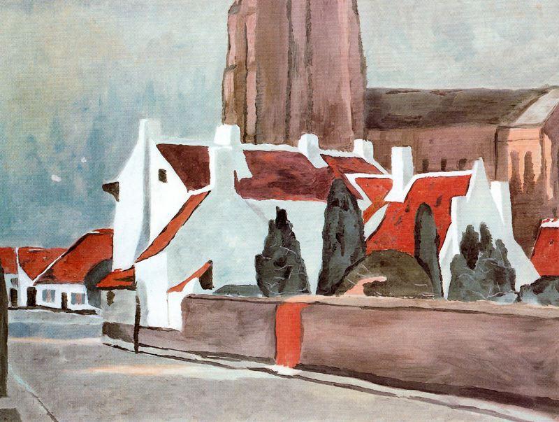 Flemish village - Luc Tuymans