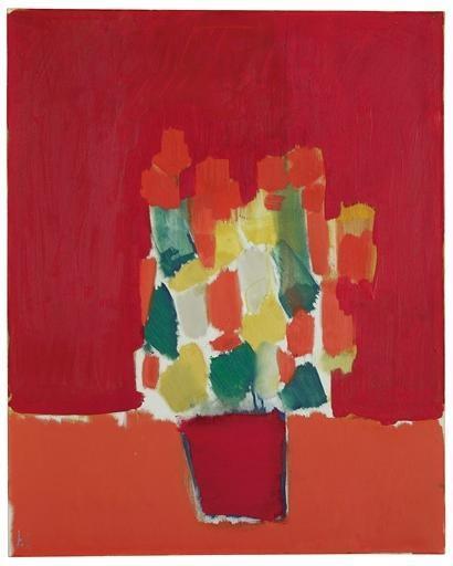 Fleurs rouges - Nicolas de Stael